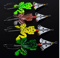 New frogs Fishing Lure Set 4pcs/LOT Rubber Soft Fishing Lures Bass SpinnerBait spoon Lures carp fishing tackle