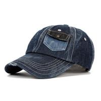 a645b42f05900 Snapback Denim Cap Chapeaux D'été pour Femmes Hommes Hip Hop Casquettes De  Baseball De