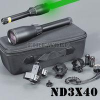 Grön lasergenetik ND40 ND3 X40 Long Distance Laser Designator Pekare med ringfäste för jakt