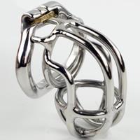 Ny Snap Ring Design Man 304 # Rostfritt stål 65mm Kyskhetsbur 4 Storlekar (36mm-50mm) Snap Ring Penis SM Bondage Cock Cage för män