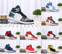 balck white Red blue gold Chicago OG Royal Mid hare Mens Bas...