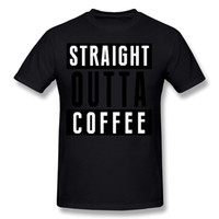 베스트 셀러 망 100 % 코튼 스트레이트 outta 커피 T 셔츠 남성 넥 오렌지 반팔 티셔츠 큰 사이즈 일반 티셔츠