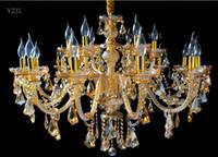 Lampes de salon Crystal lustre Atmosphère Chambre à coucher Vêtements Magasin Vintage Restaurant Beauty Salon Lampe de pendentif