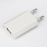 100 шт. / лот USB зарядное устройство ЕС 5 В 1A 5 Вт портативный зарядное устройство для мобильного телефона USB адаптер для iphone 7 6 6 S плюс 5 5s samsung