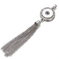 NOUVEAU SNAP Bijoux Pendentif Tassel Collier Crystal Noosa Chunk Bouton avec chaînes FIT 18MM Boutons DIY Colliers Accessoires