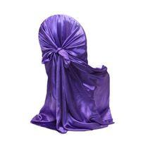 Venta caliente Nuevo 21 Color Self Tie Universal Satin Silla Cubierta Para Banquete de Boda Evento de Navidad Decoraciones Restaurante Proveedor
