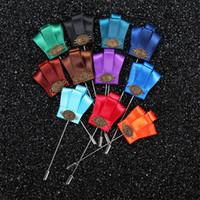 BoYuTe 5 Pcs haute qualité tissu couronne épinglette broche mode épingles de revers pour hommes broches