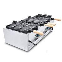 Yüksek Verimli Dondurma Taiyaki Makinesi / Taiyaki Waffle makinesi / Büyük Balık Şekilli Kek Kalıp Makinesi Fiyat