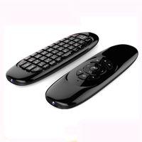 베스트 셀러 C120 플라잉 에어 마우스 안드로이드 TV 박스 미니 무선 QWERTY 키보드 원격 제어 게임 컨트롤러 Mini PC 6 자이로 스코프 Q3