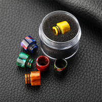 Newest Epoxy Resin drip tips SS Colors Wide Bore 510 dripper...