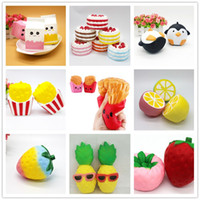 30pcs DHL Squishy 9 styles Toys Milk Box Cake Penguin French...