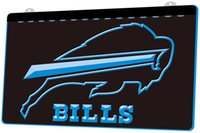LS842- b- Buffalo Bills Pub Bar 3D LED Neon Light Sign Decor ...