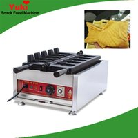 Ticari Elektrikli Taiyaki Makinesi Döner Sıcaklık Kontrol Kore Dondurma Taiyaki Pan Elektrikli Sıcak Balık Waffle Makinesi NP716