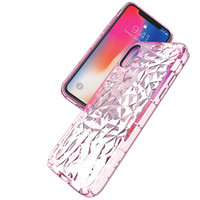 Diamant Motif De Protection Transparent Cas De Téléphone Transparent De Mode Couverture Antichoc Pour iphone X 8 7 6 S 6 Plus Samsung Note8 S9