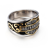 Retro Domineering Locomotive Stainless Steel Ring 2018 New A...