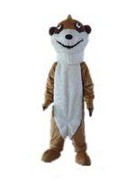 2018 Yüksek kalite sıcak kafa satılık büyük gözlü ince bir kahverengi sincap maskot kostüm