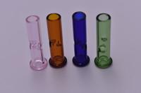 Renkli Mini sigara borular Cam Tütün boruları Kuru bitkisel borular selvi tepenin phuncky his ipuçları sigara filtreleri Uzunluğu: 45mm