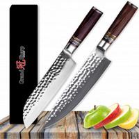 GRANDSHARP 2 Stücke Damaskus Messersätze vg10 Japanische Damaskus Küchenmesser Chef Santokumesser 67 schichten High Carbon Edelstahl Werkzeuge