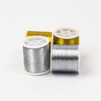 Garn 4 stücke Gold / Silber 109 Yards Dauerhafter Überlacking Nähmaschine Threads Polyester Kreuzstich stark für Lieferungen