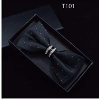 Smokin Metal Kristal Düğün Papyon Erkekler Kadınlar Kelebek Düğüm Cravat Siyah Mor Mavi Hünnap Kırmızı Damat Parti Ziyafet Karşılamak Kulübü
