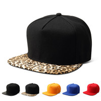 Vogue Cotton Leopard Visor Snapback Hats Men Women Gorras So...