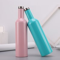 New stainless steel wine bottles 750ml double wall insulatio...