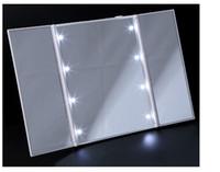 3 Seiten faltbare 8 Blitz-LED Kosmetikspiegel antiken Desktop-Spiegel Neuen eleganten Make-up Spiegel Weiß