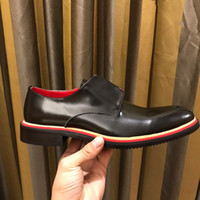 Tops New Louise Business Hommes Occasionnels Oxfords Chaussure Waxy Vache Chaussures En Cuir Noir Boîte Orignal !!! Taille38-44
