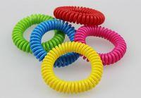 Bracelets anti-moustiques à la main Bande de poignet téléphone Anneau Chaîne Bracelet anti-moustiques Bracelets antiparasitaires Bandes
