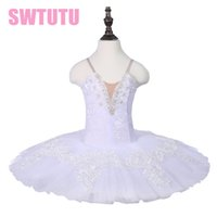 Newest Dying Swan Performance White Ballet Tutu Skirts Child...