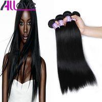 Goedkope Braziliaanse Haar Wefts 4bundles Groothandel Onverwerkte Peruaanse Indische Maleisische Silky Straight Virgin Hair Extensions Gratis verzending