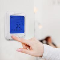 Freeshipping цифровой термостат еженедельно программируемый 16А подогрев пола часть системы термостат комнатной температуры контроллер термометр