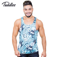 Taddlee  Men's Tank Top Tshirts polyester Sleeveless Undershirts Fitness Stringers Singlets Muscle Bodybuilding 3D Print