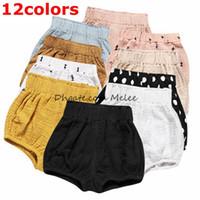 INS Yaz çocuklar pamuk pp pantolon Kız Şort Toddler Katı Pamuk Keten Bebek Çocuk Giysileri Şort Erkek Alt Pantolon 12 renkler ücretsiz gemi seçin