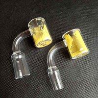 25mm al quarzo termico Banger Termochromico Accessori per fumo Accessori da fumo Giallo Colore di sabbia Cambiamento 10mm 14mm 18mm per Imbarcazione a olio di narghini Bangs di vetro Bangs