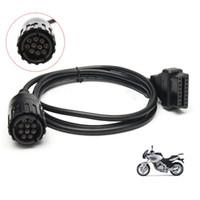 Fcarobd 2pcs OBD2 Câble De Diagnostic Pour BMW ICOM D Câble Motos Motos De Diagnostic Câble 10 Broches Adaptateur à 16pin ICOM A3 A2 Outil