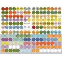 High Quality Essential Oil Bottle Cap Sticker Labels Sheet 1...
