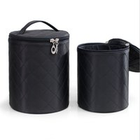 Women Beauty Professional Cosmetic Case Box Round Suitcases ...