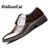 New Spring Autunno Uomo Dress Shoes Leather Pointed Toe Moda traspirante Lace Up Business Wedding Scarpe formali Oxford per pasto