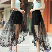 Summer Womens Lace Mesh Skirts Pencil Bandage Shorts High Wa...