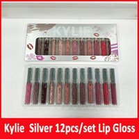 New Kylie Jenner Silver Series 12colors Matte liquid Lipstic...