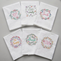 High- quality Embroidered Tea Towels Cotton Napkins Table Nap...