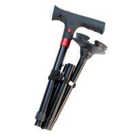 LED-Licht Aluminiumlegierung Cane Walking Stick Trekking-Klappstöcke Anti-Rutsch-T-Griff Teleskop-Gehstock für Älteste
