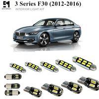 신만 16pcs 오류 무료 LED 인테리어 라이트 키트 BMW 3 시리즈 F30 액세서리 2012-2016 자동차 인테리어 조명