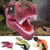 Jurassic realistisk dinosaur mjuk gummi handske hand marionett leksak simulering dinosaurier trick leksaker tonåring marionet docka djur rekvisita