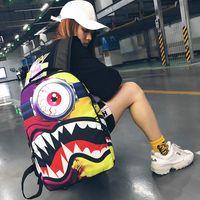 تصميم حقيبة الظهر المدرسية الرياضة حقيبة كوسبي حزمة daypack s في الهواء الطلق رذاذ الفم المدرسة السيكلوبيا الوحش يوم حقيبة القرش xioqw