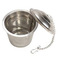 Dayanıklı 3 Boyutları Gümüş Kullanımlık 304 Paslanmaz Mesh Bitkisel Topu Çay Süzgeç Teakettle Kilitleme Çay Filtre Demlik