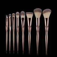 Ucanbe 8 pezzi / set / lotto Pennelli trucco conico Premium Grasp Foundation cosmetica Miscela base ombretto trucco Kit pennelli Pinceaux Maquiagem