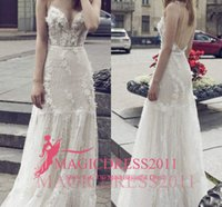 2018 Sexy Boho A- Line Wedding Dresses Backless A Line Lace B...