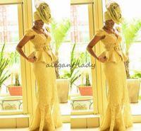 мода Анкара, китенге африканских женщин выпускного вечера платья русалка африканские принты косы Нигерии вечерние платья ганский пеплум кружева платье выпускного вечера